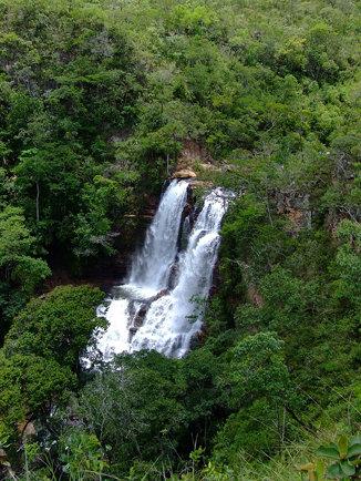 Cachoeira no corrego Itiquira / Waterfall in boar brook Itiquira