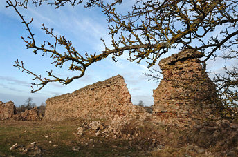 The ruins Of Kreva Castle