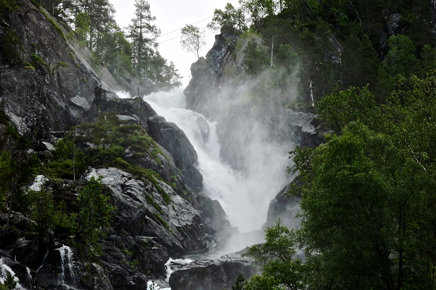 Latefossen waterfall, Norway