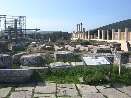 Temple of Asclepios at Epidauros sanctuary of Asclepios