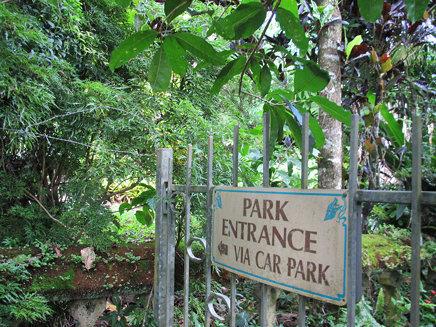 PARK ENTRANCE VIA CAR PARK