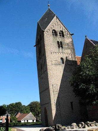 Meest scheve toren van Nederland. Walfriduskerk, Bedum