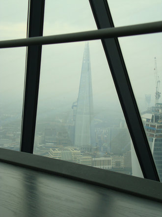 View from the top of the Swiss Re Building towards The Shard