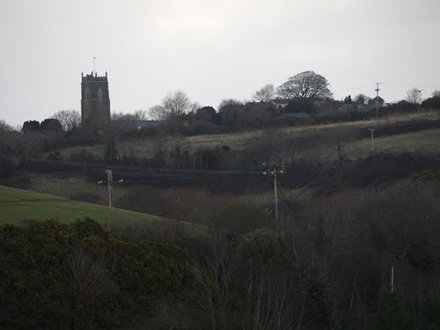 St Stephens Church, Saltash from the fields
