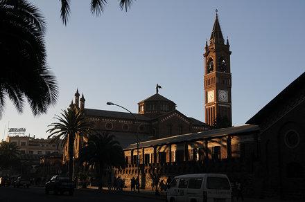 Asmara's Cathedral at Dusk (Asmara, Eritrea)