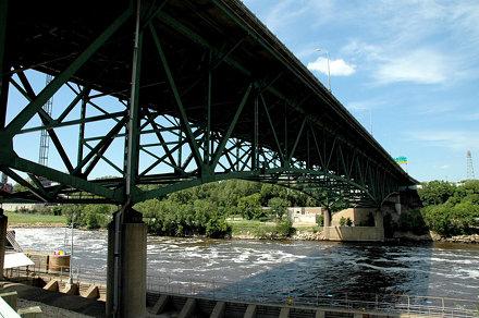 35W Bridge Collapse, Mississippi River, Minneapolis, Minnestota