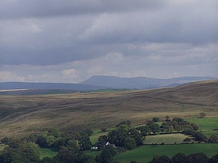 View Looking east towards Black Mountains