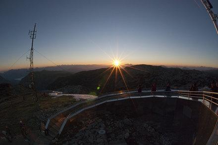 krippenstein at sunrise