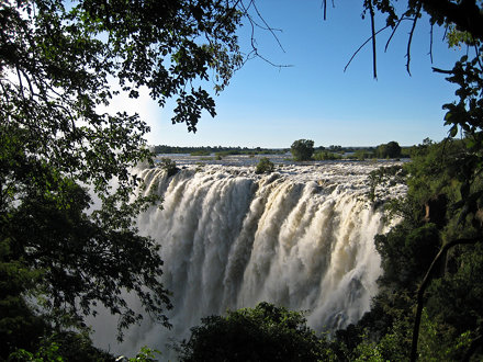 The beautiful Victoria Falls