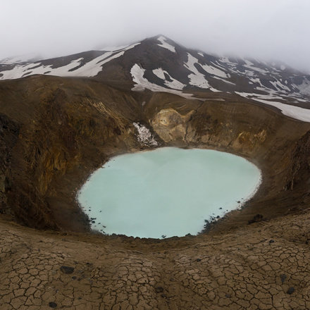 Iceland: Víti Crater inside the Askja Caldera