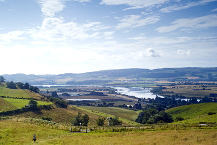 View of the Firth of Tay from Kinnoull Hill
