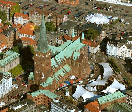 Århus Cathedral, Aerial