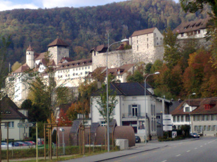 Aarburg Castle in Autumn