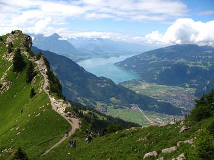IMG_5843 - Schynige Platte - Interlaken, Thunersee, Abendberg, and Morgenberghorn viewed from Oberbe