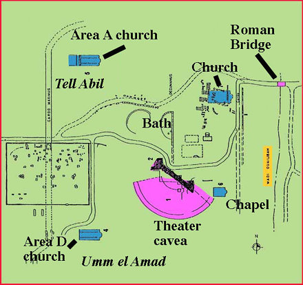 Umm Qays Abila map