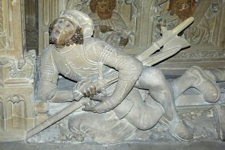 """Reutlingen, Marienkirche, Soldat am """"Heiligen Grab"""""""