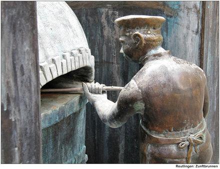 Reutlingen: Zunftbrunnen