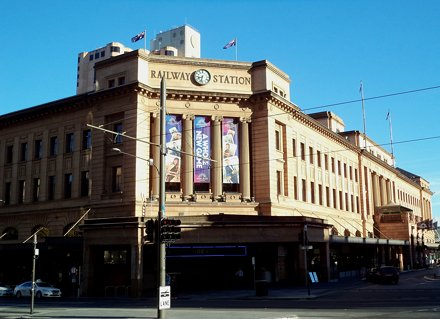 Adelaide Railway Station which now houses the Casino as well. Built 1928.