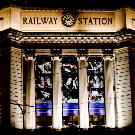 Adelaide Railway Station Entrance