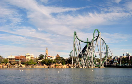 Universal Orlando - Islands of Adventure - Jurassic Park - View Across Lagoon (2)