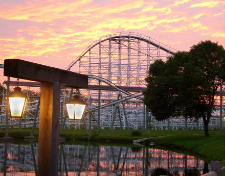 Adventureland sunset