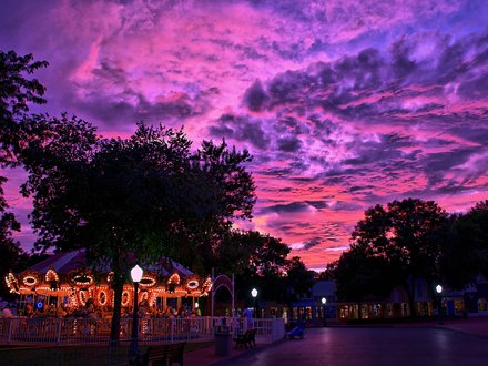 Adventureland USA Sunset - HDR