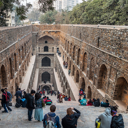 Agrasen ki Baoli - a step well from the 14th century