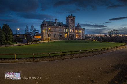 Airthrey Castle at Night