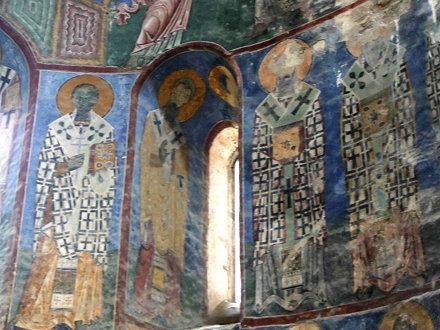 Armenia. Monasterio de Akhtala. Los frescos de la Iglesia de St. Astvazazin