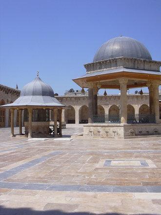 Aleppo (Halab), Omayadenmoschee, 11. Jhdt., Innenhof