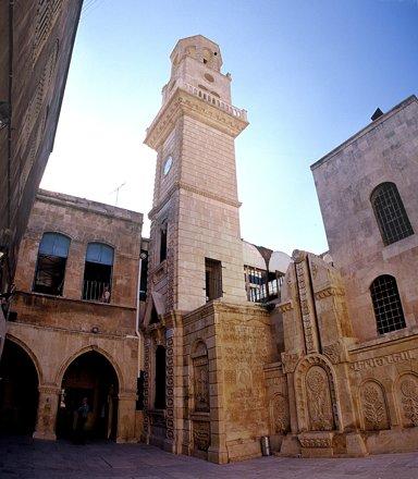 Aleppo (Halab), Eingang zur Armenischen Kirche, beim Abendspaziergang