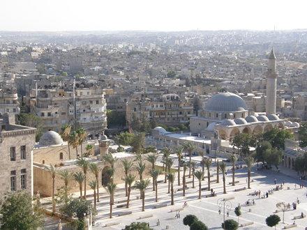 Vistas de Alepo desde la ciudadela