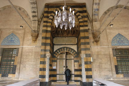 At the Mimar Sinan mosque in Aleppo
