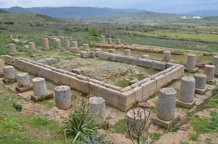 Doric Temple of Zeus Chrysaoreus, built in the 3rd century BC, Alabanda, Caria, Turkey