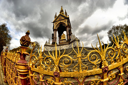 Albert Memorial, fish eye lens