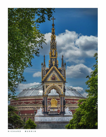 Albert Memorial & Royal Albert Hall, London.