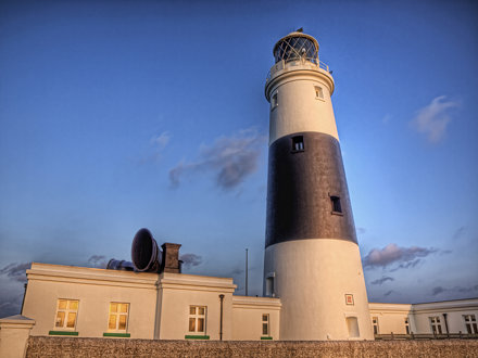 Sunset on the Lighthouse - Alderney
