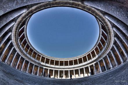 Palacio de Carlos V Fish & HDR - Granada
