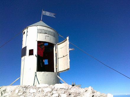 Aljažev stolp na Triglavu 2.864m