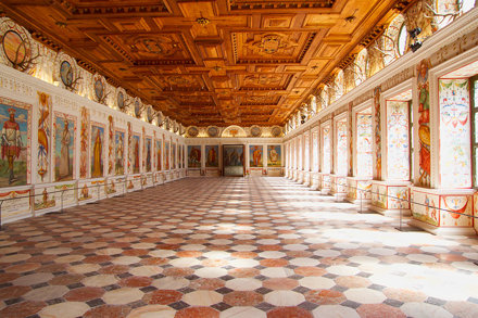 Spanish Hall at Schloss Ambras in Innsbruck, Austria