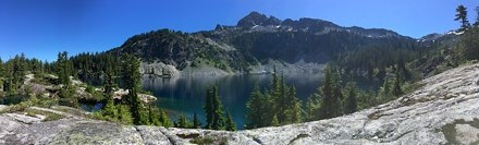 Gold Lake doesn't fit in one shot, so here's a panorama.