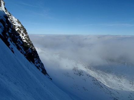 Viewing north from East Face of Aonach Mor
