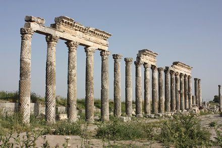 Apamea, columns with twisted fluting