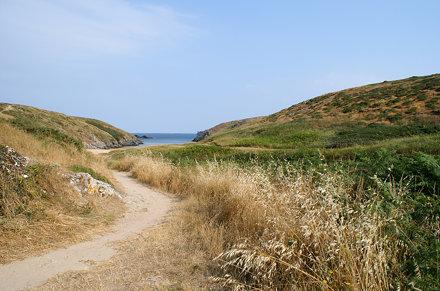 Morbihan : Belle-île-en-mer : plage de Kerguelen.