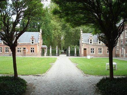 Arenbergkasteel: exterior view of courtyard towards the northwest