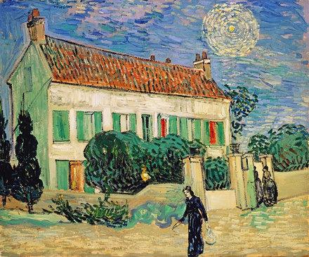 La Maison blanche, de nuit (V van Gogh - F 766 / JH 2031)