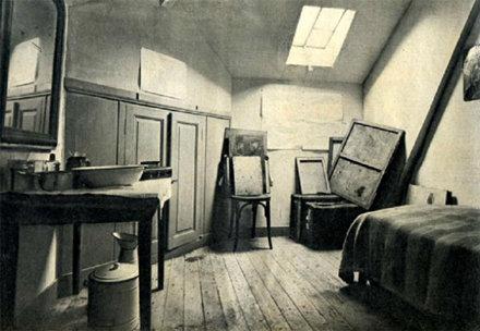 Chambre reconstituée de V van Gogh à Auvers-sur-Oise