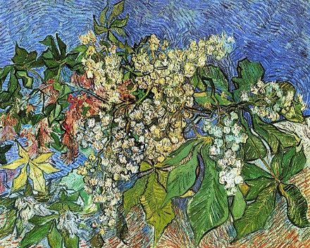 Branches de marronnier en fleurs (V van Gogh - F 820 / JH 2010)
