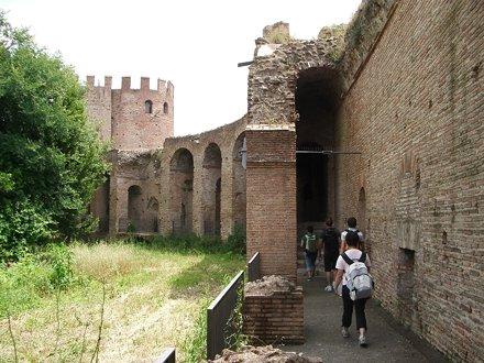 Aurelian wall interior.