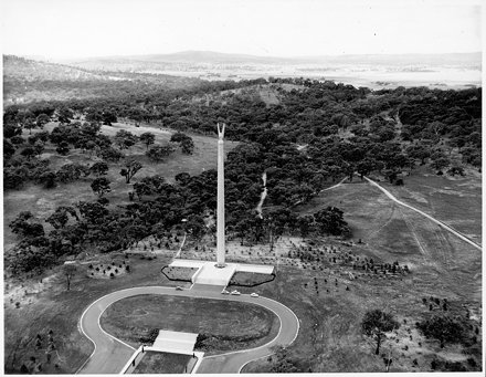 Aerial View of Australian-American Memorial c1950s - Looking North